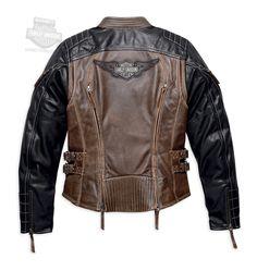 Harley-Davidson® | 98105-16VW | Harley-Davidson® Womens Capitol Winged B&S Vintage Brown Leather Jacket