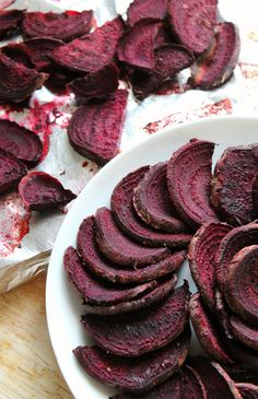 Beet fries! What a great idea. These are seasoned with garlic, marjoram, and oregano.