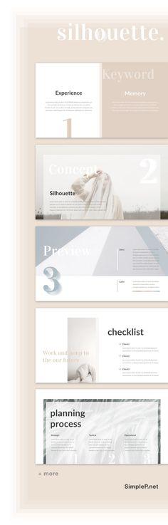 Silhouette Keynote Presentation Template #keynote #portfolio #proposal #minimal #silhouette #simple #layout #template #keyword #concept #planning #process