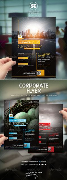 Business Flyer Creative, Business flyer templates and Flyers - corporate flyer template