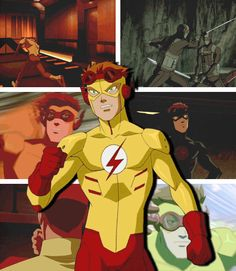 Hey, I'm Kid Flash, 'KF'. I recreated the experiment that gave the Flash his powers and got super speed like him. I'm not as fast, but I'm working on that.