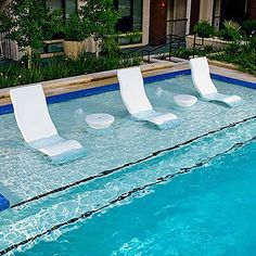 Ledge Lounger In-Pool Side Table - White Outdoor Furniture - Sunnyland Outdoor Patio Furniture Dallas Fort Worth TX Backyard Pool Designs, Swimming Pools Backyard, Swimming Pool Designs, Pool Landscaping, Lap Pools, Indoor Pools, Pool Decks, Jacuzzi, Ledge Lounger