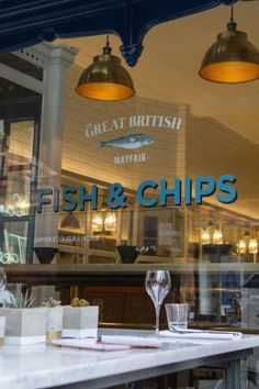 The Mayfair Chippy, Fish and Chips, London. Fish And Chips Takeaway, Fish And Chips Restaurant, London Fish And Chips, Mayfair Restaurants, Takeaway Shop, Fish And Chip Shop, Fish House, Restaurant Concept, Commercial Interiors
