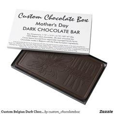 Custom Belgian Dark Chocolate Box - Mother's Day