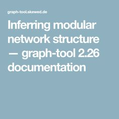 Inferring modular network structure — graph-tool 2.26 documentation