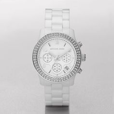 this is my all time fav michael kors womens watch white ceramic. Black Bedroom Furniture Sets. Home Design Ideas