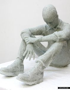 Broken Glass Sculptures by Daniel Arsham