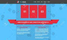 수평 메뉴와 빨간색 슬라이드 쇼 파란색 웹 사이트 템플릿 로열티 무료 사진, 그림, 이미지 그리고 스톡포토그래피. Image 29647429.