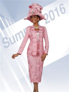 Marc 47901 Womens Cut Work Church Suit Ben Marc 47901 is a 3 piece women's cut work church suit in Micro fabric. The Jacket is and the skirt is The hat pictured is not included. Church Attire, Church Dresses, Church Outfits, Women Church Suits, Suits For Women, Clothes For Women, Dress Outfits, Fashion Dresses, Woman Outfits