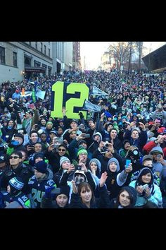 We are 12. Seattle Seahawks Superbowl parade!