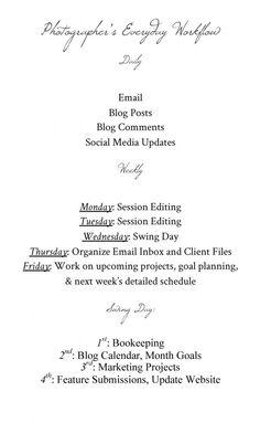 love the way tiffany farley organizes her week