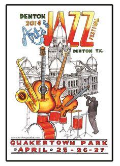 Denton Arts & Jazz Festival April 25-17, 2014 at Quakertown Park.