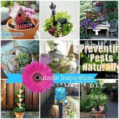 Add a pretty touch to the yard with one of these great Outside Inspiration Garden Projects  |  OHMY-CREATIVE.COM