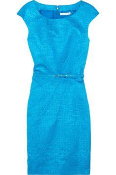 Love the colour of this Oscar de la Renta Belted cotton-blend jacquard dress NET-A-PORTER.COM