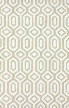 Rugs USA Radiante Xue Trellis Cotton Dove Grey Rug, 100% Cotton Chenille, Hand Tufted, Transitional, pattern, ivory, tan, sale, discount, home decor.