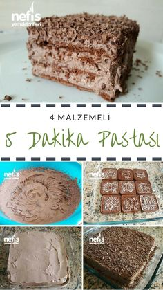 4 Malzemeli 5 Dakika Pastası – Nefis Yemek Tarifleri How to make a 5 minutes cake recipe with 4 ingredients? Illustrated explanation of this recipe in book and photographs of those who try it are here. Meat Recipes, Cake Recipes, Dessert Recipes, Food Cakes, Yummy Food, Tasty, Delicious Recipes, Pastry Cake, Popular Recipes