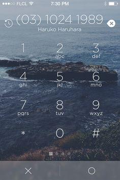iPhone interface