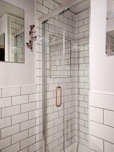 Copper Pipe Shower Door Handle & Copper Pipe Towel Hook