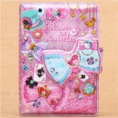 ribbon Alice in Wonderland glitter ring binder sticker album