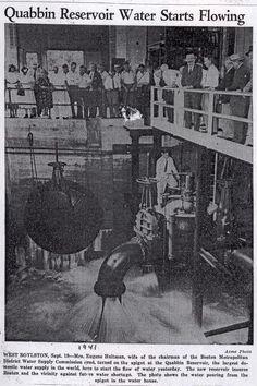 Quabbin Reservoir Water Starts Flowing; 1941