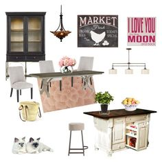 """Country Chic Kitchen"" by silverlime2013 on Polyvore featuring interior, interiors, interior design, home, home decor, interior decorating, Stanley Furniture, Pier 1 Imports, Arteriors and DutchCrafters"