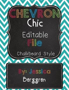 This 212 page Bundle includes my Best Selling Classroom Decor and Editable Labels! Currently 50% off!!! This is a growing Bundle. Purchase Now and get all newly added sets for free when you re-download. Chevron Chic Chalkboard Classroom Alphabet and Word WallTeach Upper Grades?