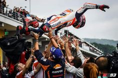 After the race in Germany. Marc Marquez