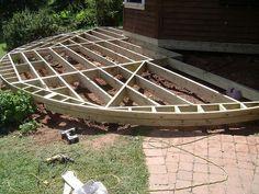 Round deck framing #outdoor #deck #ideas