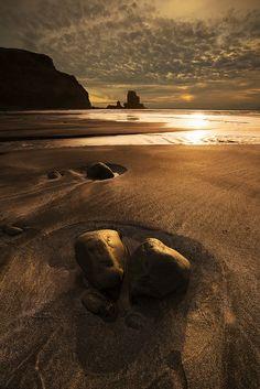 Sunset in Talister Bay Isle Of Skye Scotland  -Stunning textures  -The Saint