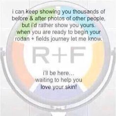 Rodan + Fields Try it for yourself and see what all the buzz is about! www.cvidal.myrandf.com