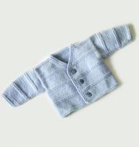 Free Knitting Pattern 70301AD Garter Ridge Baby Cardigan : Lion Brand Yarn Company
