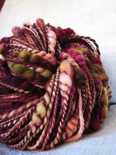 Days Of Wine And Roses Hand Dyed Handspun Merino Wool Beehive Yarn