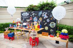 Festa infantil com tema astronauta