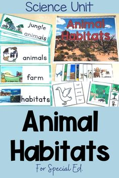 Grab this adapted science unit about animal habitats to help break down the concepts and vocabulary for your special education & inclusion students. The activities are already leveled, include visual supports and highlights the vocabulary needed in order to learn the standards. The activities and tasks will easily fit into your lesson plans, direct instruction, science groups, stations and centers. This unit is ideal for autism, life skills & self-contained classes. Click now for more details! Special Education Inclusion, Inclusion Classroom, Autism Classroom, Special Education Classroom, Classroom Resources, Classroom Ideas, Writing Lesson Plans, Lesson Planning, Science Curriculum