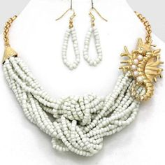 Chunky Seahorse Charm Gold Chain Necklace Earring Set Fashion Costume Jewelry | eBay