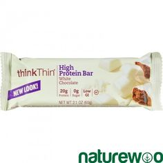 Think Products - 753418 - Thin Bar - White Chocolate - Case of 10 - 2.1 oz