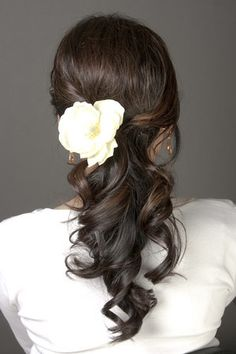Idea for me... side pony/curly/flower?