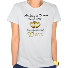 50th Golden Anniversary Personalized T-Shirt