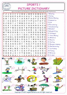 sports themed word search tpt language arts lessons sports activities for kids sports theme. Black Bedroom Furniture Sets. Home Design Ideas