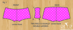 DIY: Make You Own Pole Fitness Shorts Pattern from a Pair of Undies!
