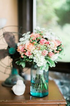 Blues & pinks. Taken by Andrew & Erin Photography at Storybrook Farm B&B.