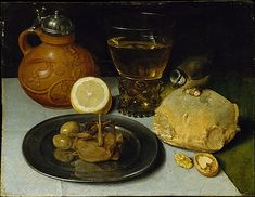 Still Life  --  Probably 1625-30  --  Georg Flegel  --  German, Frankfurt  --  Oil on wood  --  Metropolitan Museum of Art