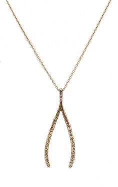 Nicole Ritchie's House of Harlow Tribal Wishbone Necklace