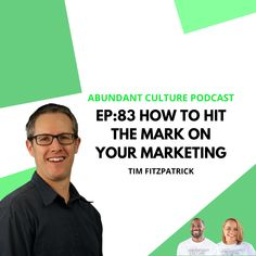 We were honored and excited to chat with Joseph & Jasmine Mims from Abundant Culture, Inc. on the Abundant Culture Podcast. We talked about defining your #targetaudience, getting your 90-day #marketing plan together, and how to generate more leads and #conversions. Check it out. Small Business Marketing, Marketing Plan, Increase Sales, Target Audience, Check It Out, Jasmine, Joseph, You Got This, Culture