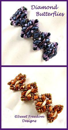 Beadweaving Tutorial Bracelet DiamonDuo Pattern by SweetFreedom