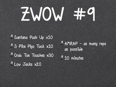 ZWOW #9 amrap zuzka 2.5 rounds me 2.5 rounds i finished the round