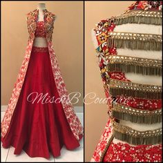All fired up, lehenga by Mischb couture