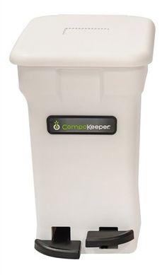 Boulder Clean CompoKeeper Kitchen Compost Bin-White, 6 gal