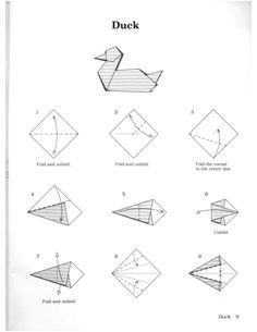 Origami Duck Instructions - Duck Pdf Origami Tattoo Origami Duck Origami Octopus How To Make An Easy Origami Duck Paper Duck Tutorials Paper Origami Duck Face Origami Easy Origam. Origami Duck, Origami Rose Box, Kids Origami, Origami Dragon, Origami Bird, Origami Easy, Origami Flowers, Origami Tattoo, Tatoo
