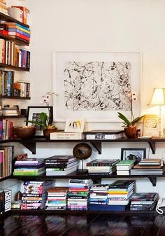 Wall of books via Att Samla